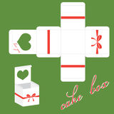 Caixa de bolo dos Valentim do vetor Imagem de Stock