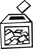 Caixa de cédula no dia de eleição Imagem de Stock