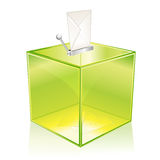 Caixa de cédula verde Imagens de Stock Royalty Free