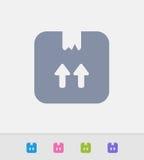 Caixa de cartão - ícones do granito ilustração royalty free