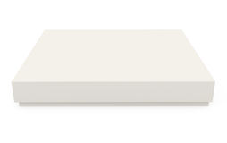 Caixa de cartão isolada no branco Fotografia de Stock Royalty Free
