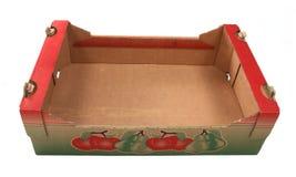 Caixa de cartão para vegetais imagem de stock royalty free