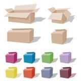 Caixa de cartão - presente ou movimento Imagens de Stock Royalty Free