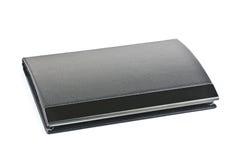 Caixa de cartão preta isolada imagens de stock