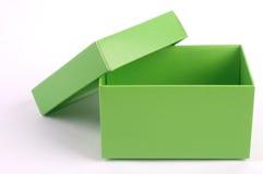 Caixa de cartão verde foto de stock royalty free