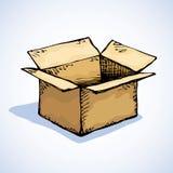 Caixa de cartão Desenho do vetor Imagens de Stock