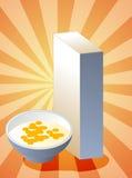 Caixa de cereal Fotografia de Stock Royalty Free