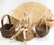 Caixa de cesta Imagem de Stock