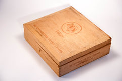 Caixa de charuto velha Fotografia de Stock
