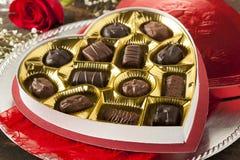 Caixa de chocolates gourmet para o dia de Valentim Imagem de Stock Royalty Free