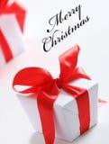 Caixa de Chrismas (fácil remover o texto) Imagem de Stock Royalty Free