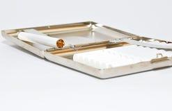 Caixa de cigarro. Fotografia de Stock