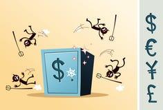 Caixa de cofre-forte protegida do ladrão Foto de Stock Royalty Free