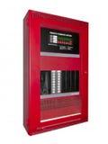 Caixa de controle do alarme de incêndio, isolada Fotografia de Stock Royalty Free