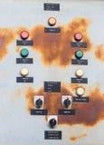 Caixa de controle elétrica velha Imagens de Stock