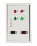 Caixa de controle no branco isolado com trajeto de grampeamento Imagens de Stock Royalty Free