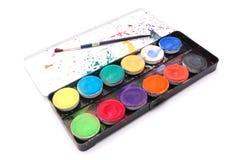 Caixa de cor da água Fotos de Stock Royalty Free