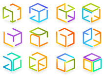 Caixa de cor do símbolo Fotografia de Stock