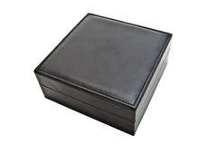 Caixa de couro preta Fotos de Stock Royalty Free