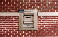 Caixa de depósito da noite Imagem de Stock Royalty Free