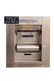 Caixa de depósito da noite em um banco - isolado fotografia de stock