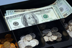Caixa de dinheiro Imagens de Stock