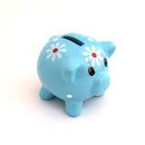 Caixa de dinheiro do banco Piggy Fotos de Stock