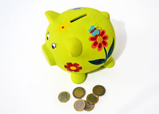 Caixa de dinheiro do porco, conceito de salvamento do dinheiro Imagem de Stock Royalty Free