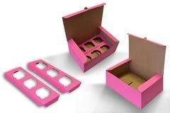 Caixa de empacotamento Fotografia de Stock Royalty Free