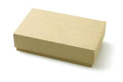Caixa de empacotamento do cartão Fotografia de Stock