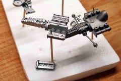 Caixa de engrenagens com elementos da suspensão, bloco de motor, correia de sincronismo Conjunto em grande escala dos modelos Pe imagens de stock