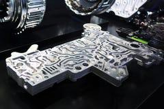 Caixa de engrenagens do variator do centro de controle da transmissão automática de Mercedes em carros de IAA Foto de Stock