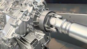 Caixa de engrenagens 4WD com movimentação de eixo filme