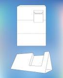 Caixa de exposição do cartão Caixa com modelo Fotos de Stock Royalty Free