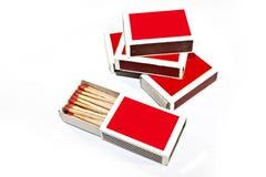 Caixa de fósforos Fotos de Stock