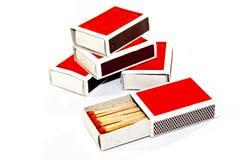 Caixa de fósforos Fotografia de Stock Royalty Free