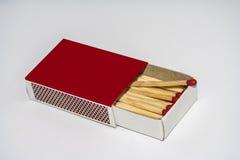 Caixa de fósforos com fósforos para dentro foto de stock royalty free