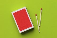Caixa de fósforos em branco Fotografia de Stock