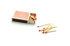 caixa de fósforos isolados no fundo branco Fotografia de Stock