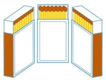 Caixa de f?sforos ilustração stock