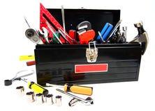 Caixa de ferramentas cheia Fotografia de Stock