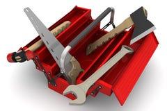 Caixa de ferramentas com ferramentas Fotos de Stock