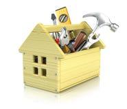 Caixa de ferramentas da casa Fotografia de Stock