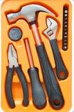 Caixa de ferramentas pequena do hardware Fotografia de Stock