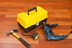 Caixa de ferramentas plástica Imagem de Stock Royalty Free