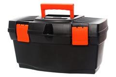 Caixa de ferramentas preta com punho vermelho Foto de Stock Royalty Free