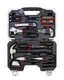 Caixa de ferramentas sobre o branco Imagem de Stock