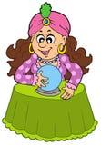 Caixa de fortuna com esfera de cristal Fotografia de Stock Royalty Free
