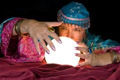 Caixa de fortuna e esfera de cristal Imagem de Stock Royalty Free