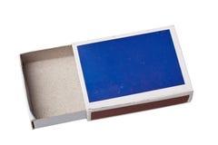 Caixa de fósforos vazia Fotografia de Stock Royalty Free